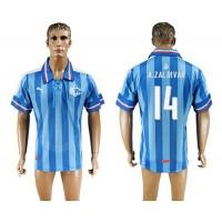 Guadalajara #14 A.Zaldivar Blue Soccer Club Jersey