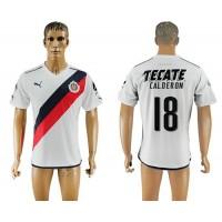 Guadalajara #18 Calderon Away Soccer Club Jersey