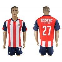 Guadalajara #27 C.Pena Home Soccer Club Jersey