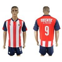 Guadalajara #9 A.Pulido Home Soccer Club Jersey
