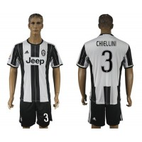 Juventus #3 Chiellini Home Soccer Club Jersey