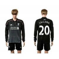 Liverpool #20 Lallana SEC Away Long Sleeves Soccer Club Jersey