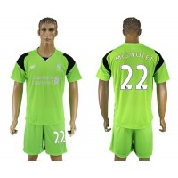 Liverpool #22 Mignolet Green Goalkeeper Soccer Club Jersey