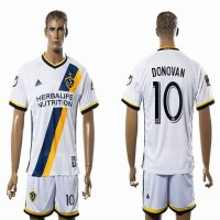 Los Angeles Galaxy #10 DONOVAN White Home Soccer Club Jersey