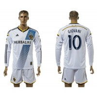 Los Angeles Galaxy #10 Giovani Home Long Sleeves Soccer Club Jersey
