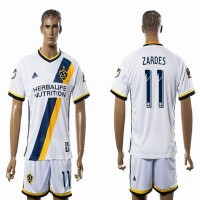 Los Angeles Galaxy #11 ZARDES White Home Soccer Club Jersey