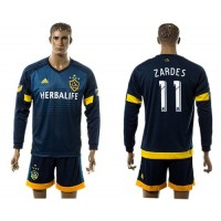 Los Angeles Galaxy #11 Zardes Away Long Sleeves Soccer Club Jersey