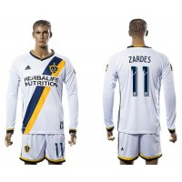 Los Angeles Galaxy #11 Zardes Home Long Sleeves Soccer Club Jersey