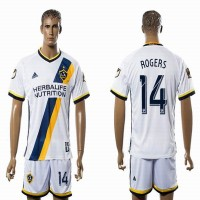 Los Angeles Galaxy #14 RODERS White Home Soccer Club Jersey