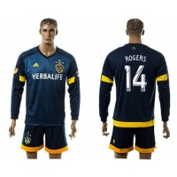 Los Angeles Galaxy #14 Rogers Away Long Sleeves Soccer Club Jersey