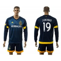 Los Angeles Galaxy #19 Juninho Away Long Sleeves Soccer Club Jersey