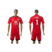Lyon #1 Lopes Away Soccer Club Jersey