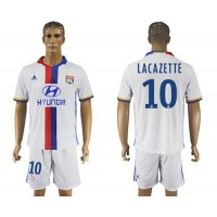 Lyon #10 Lacazette Home Soccer Club Jersey