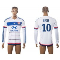 Lyon #10 Necib Home Long Sleeves Soccer Club Jersey