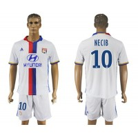Lyon #10 Necib Home Soccer Club Jersey