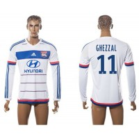Lyon #11 Ghezzal Home Long Sleeves Soccer Club Jersey