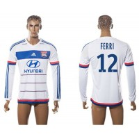 Lyon #12 FERRI Home Long Sleeves Soccer Club Jersey