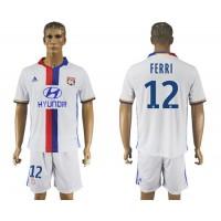 Lyon #12 FERRI Home Soccer Club Jersey