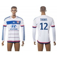 Lyon #12 Thomis Home Long Sleeves Soccer Club Jersey