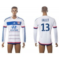 Lyon #13 Jallet Home Long Sleeves Soccer Club Jersey
