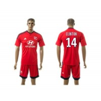 Lyon #14 Clinton Away Soccer Club Jersey