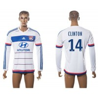 Lyon #14 Clinton Home Long Sleeves Soccer Club Jersey