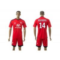 Lyon #14 Hegerberg Away Soccer Club Jersey