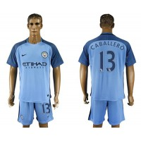 Manchester City #13 Caballero Home Soccer Club Jersey