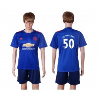 Manchester United #50 Johnstone Away Soccer Club Jersey