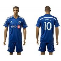 Montreal Impact #10 Piatti Blue Home Soccer Club Jersey