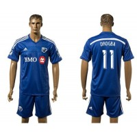 Montreal Impact #11 Dorgba Blue Home Soccer Club Jersey