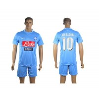 Naples #10 Maradona Home Soccer Club Jersey