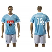 Naples #14 Mertens Blue Home Soccer Club Jersey