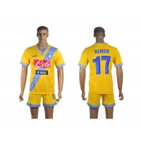 Naples #17 Hamsik Yellow Away Soccer Club Jersey