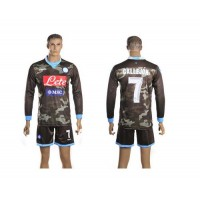Naples #7 Callejon Away Long Sleeves Soccer Club Jersey