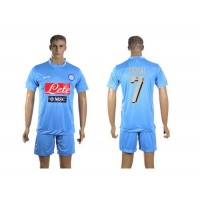 Naples #7 Cavani Home Soccer Club Jersey