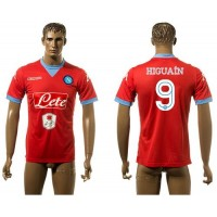 Naples #9 Higuain Red Away Soccer Club Jersey