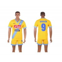 Naples #9 Higuain Yellow Away Soccer Club Jersey
