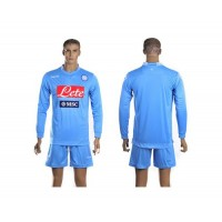 Naples Personalized Blue Home Long Sleeves Soccer Club Jersey