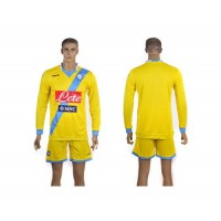 Naples Personalized Yellow Away Long Sleeves Soccer Club Jersey
