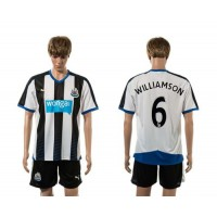 Newcastle #6 WILLIAMSON Home Soccer Club Jersey
