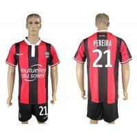 OGC Nice #21 Pereira Home Soccer Club Jersey