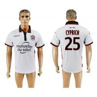 OGC Nice #25 Cypricn Away Soccer Club Jersey