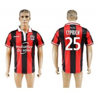 OGC Nice #25 Cypricn Home Soccer Club Jersey