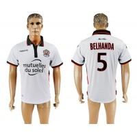 OGC Nice #5 Belhanda Away Soccer Club Jersey