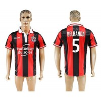 OGC Nice #5 Belhanda Home Soccer Club Jersey