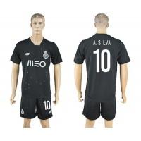 Oporto #10 A.Silva Away Soccer Club Jersey