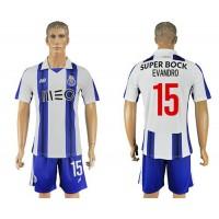 Oporto #15 Evandro Home Soccer Club Jersey