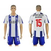 Oporto #15 Quintero Home Soccer Club Jersey
