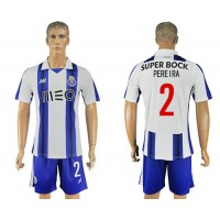 Oporto #2 Pereira Home Soccer Club Jersey